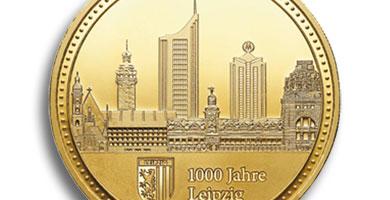 Degussa Goldhandel 1000 Jahre Leipzig fuer Leipziger Muenzkabinett