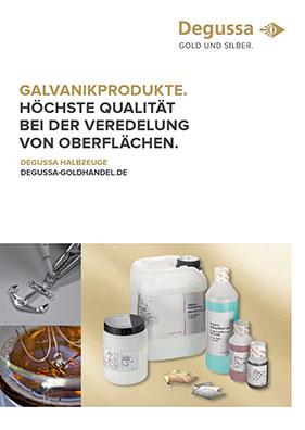 Produktdatenblatt Galvanikprodukte
