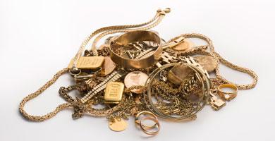 Degussa Goldhandel Hamburger machen alten Schmuck zu Geld