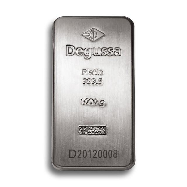 Degussa Goldhandel Platinbarren 1 kg