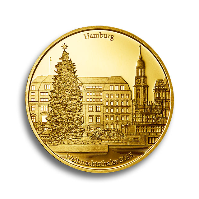 1 oz Degussa Feingold Weihnachtsthaler 2015 Vorderseite