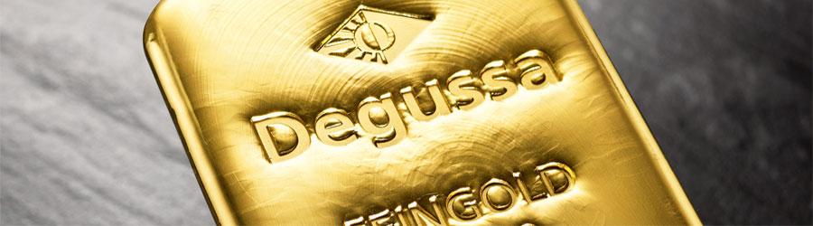 Degussa Goldhandel Goldbarren