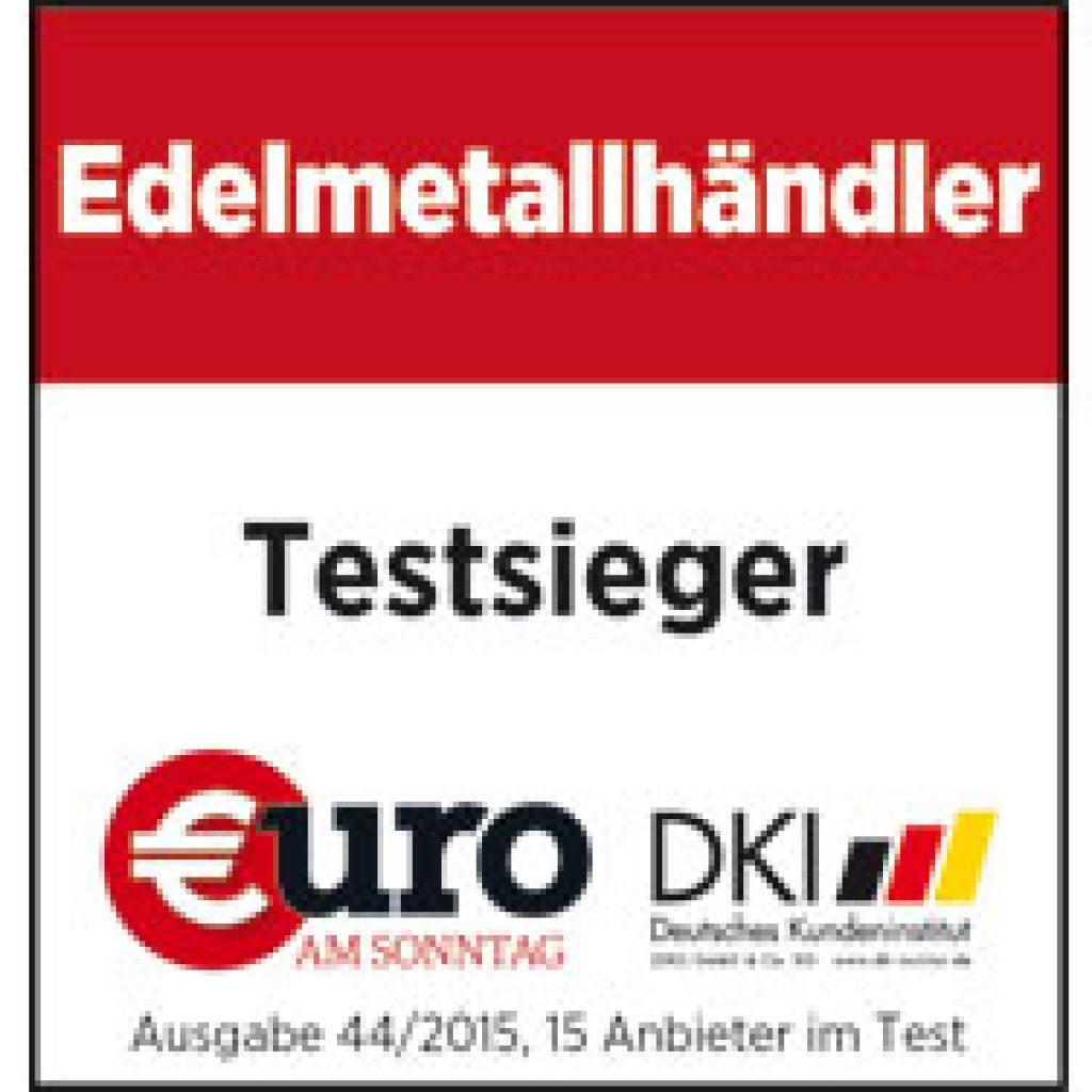 Edelmetallhändler Testsieger