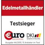 Degussa Goldhandel bester Edelmetallhaendler 2015