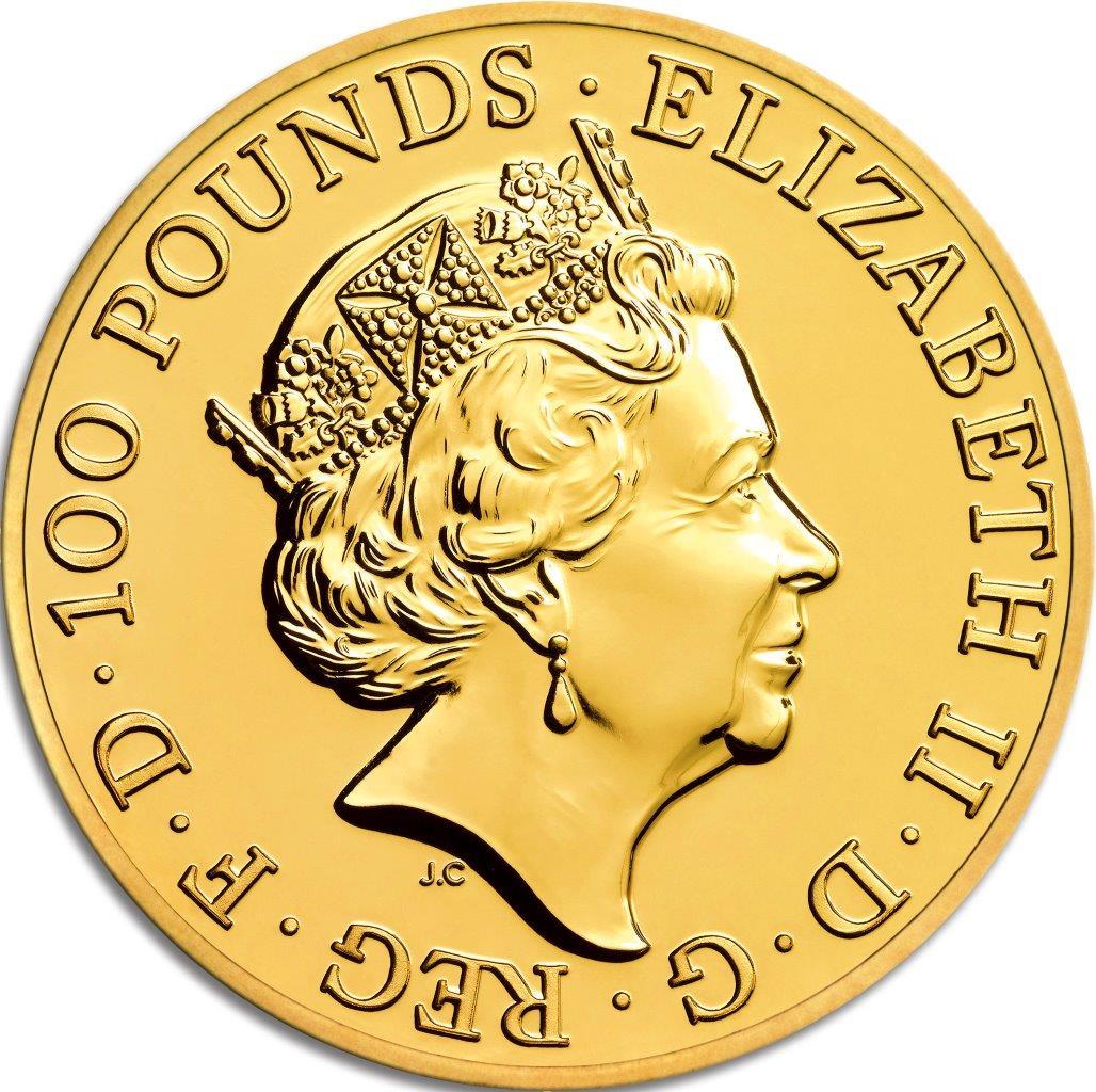 Degussa Goldhandel 1oz Lunar UK Affe 2016