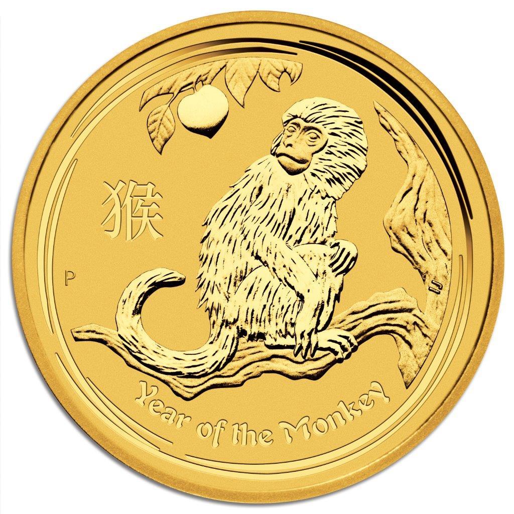 Degussa Goldhandel 1oz Lunar 2 Goldmünze Affe 2016