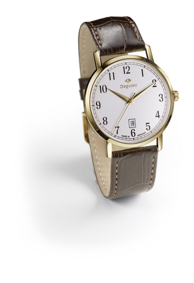 Degussa Goldhandel Uhr Classic Edition Gelbgold