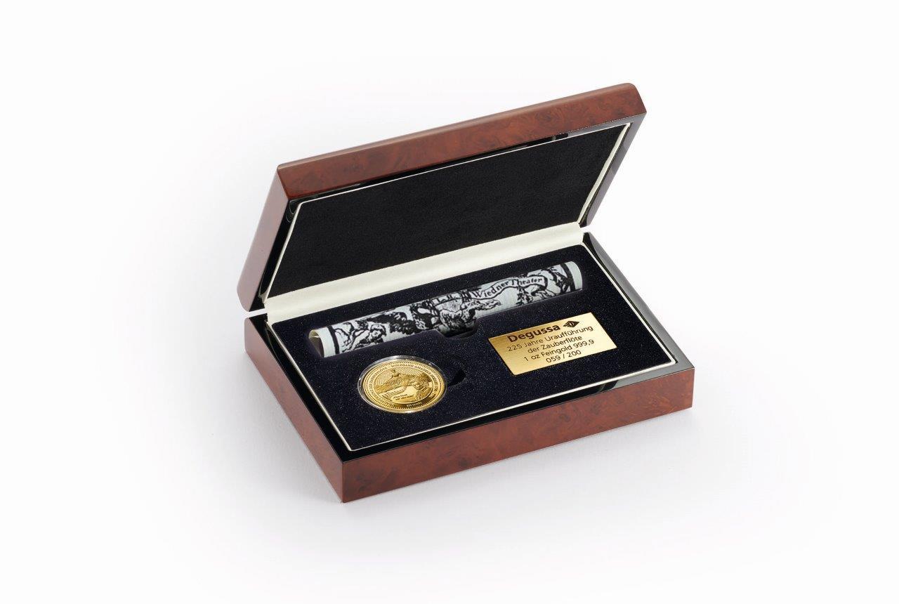 Degussa 225 Jahre Zauberflöte Gold Thaler im Etui