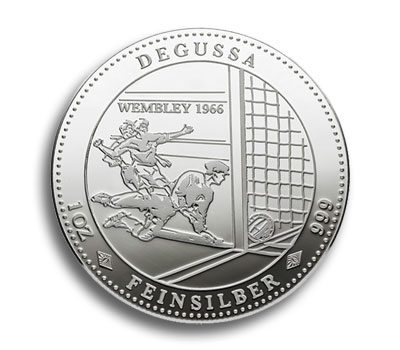 Degussa Goldhandel Wembley 1966 Medaille