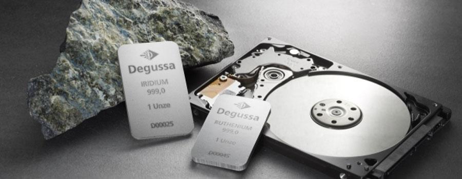 Degussa-Iridium-Ruthenium