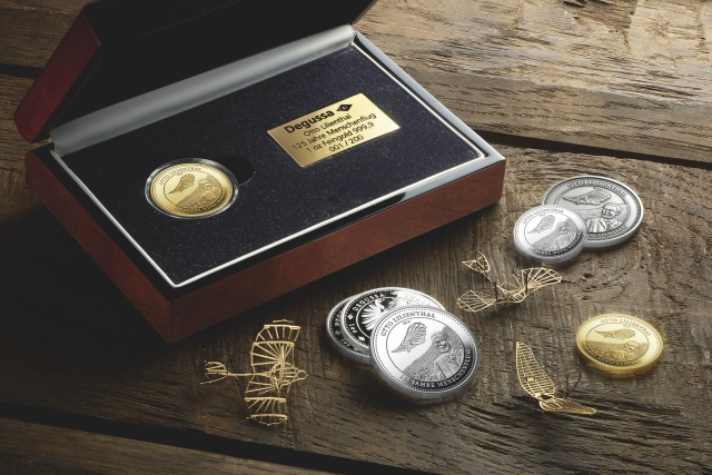 Degussa Goldhandel Otto Lilienthal mit Box