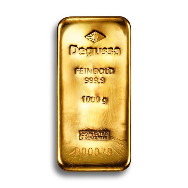 1 kg Degussa Goldbarren