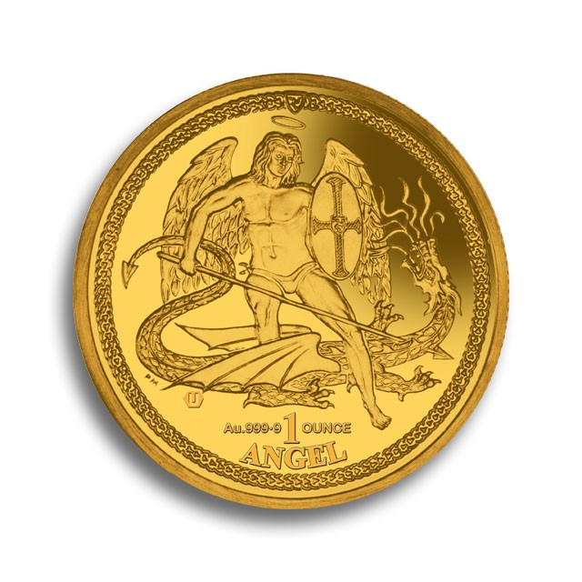 Degussa Goldhandel 1oz Isle of Man Goldmuenze 2016
