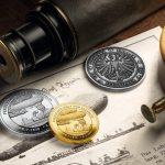 degussa graf von zeppelin thaler gold silber antik finish