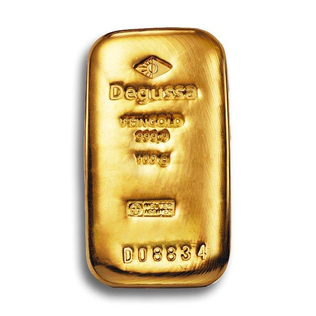 degussa-goldhandel-100-g-barren