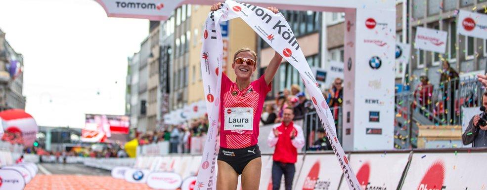 Degussa Aktuell Siegerin Halbmarathon Köln