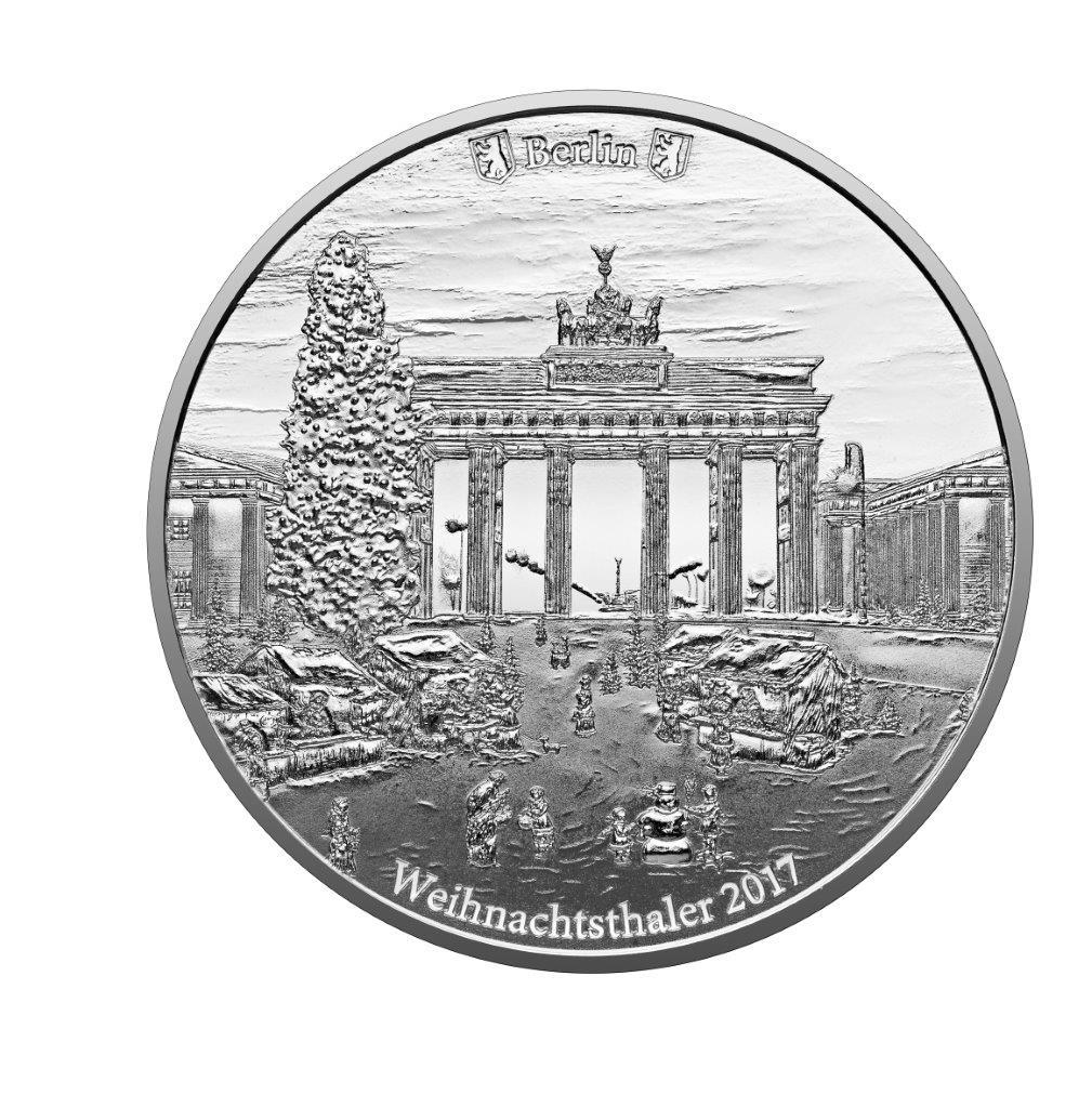Degussa Weihnachtsthaler 2017 1 oz Silber
