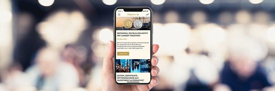 Degussa Gold-Ticker App | Degussa Goldhandel