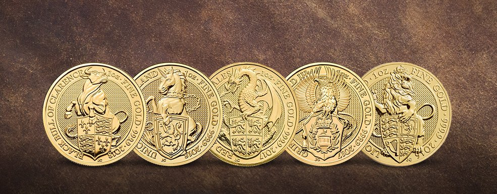 Queen's Beasts in Gold: Royal Mint feiert fulminantes Comeback