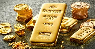 Degussa Goldhandel Barren und Münzen