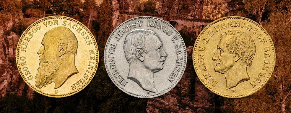 Kaiserreich-Münzen aus Sachsen: Ein Künstler, ein Sturkopf und ein Lokalpatriot