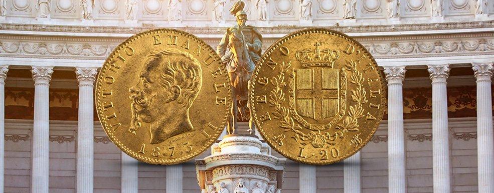 Goldmünzen aus Italien: Der berühmteste Bartträger des 19. Jahrhunderts