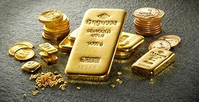 Degussa Barren und Investment Münzen