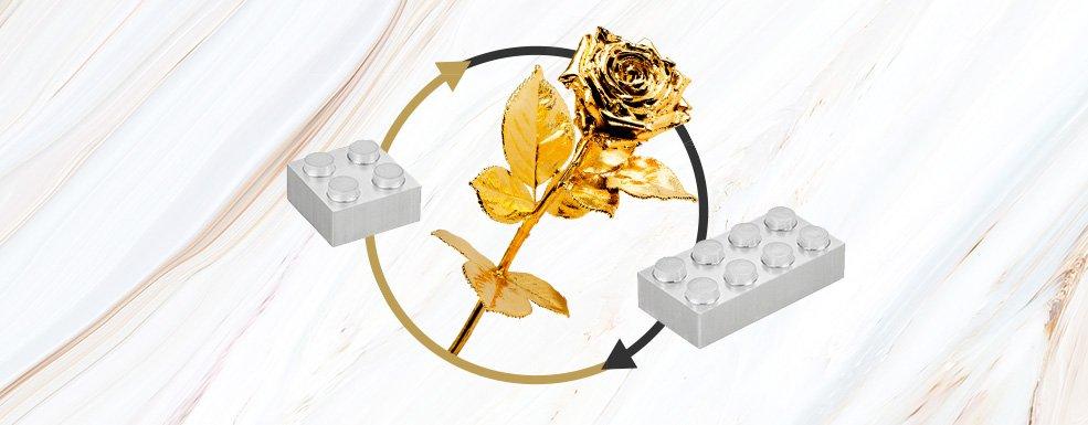 Premium Goldrose als Goldgeschenk