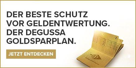 Degussa Goldsparplan Werbung