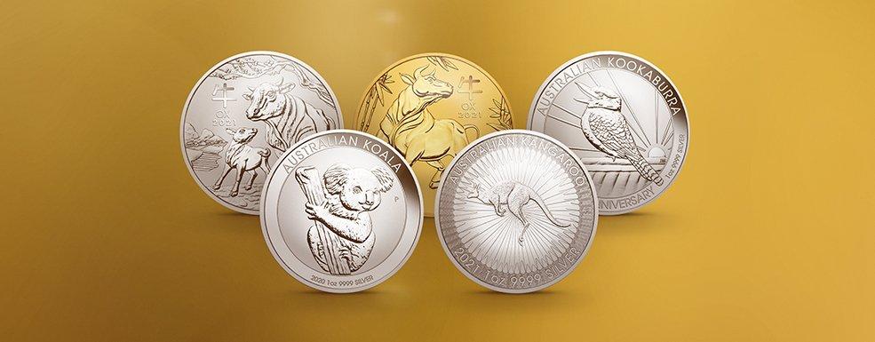Degussa Anlagemünzen mit Tiermotiven