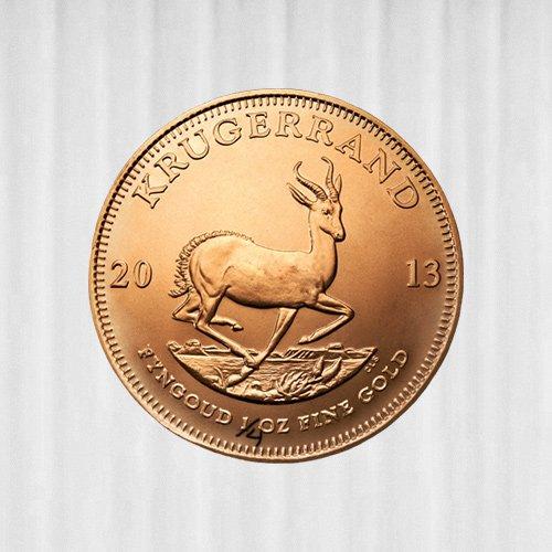 1/4 oz Krügerrand Goldmünze - Südafrika versch. Jahrgänge