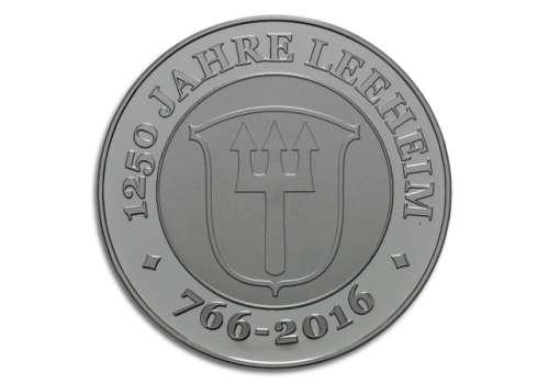 Degussa Crowdfunding 1250 Jahre Leeheim Silbermedaille