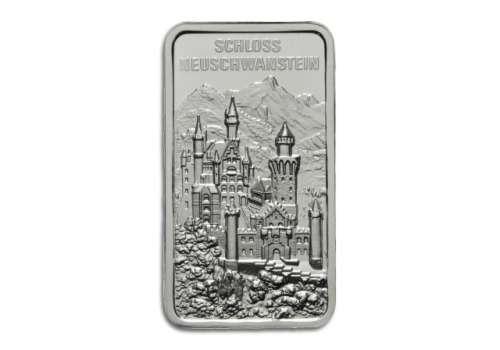 Degussa Crowdfunding Silberbarren Schloss Neuschwanstein