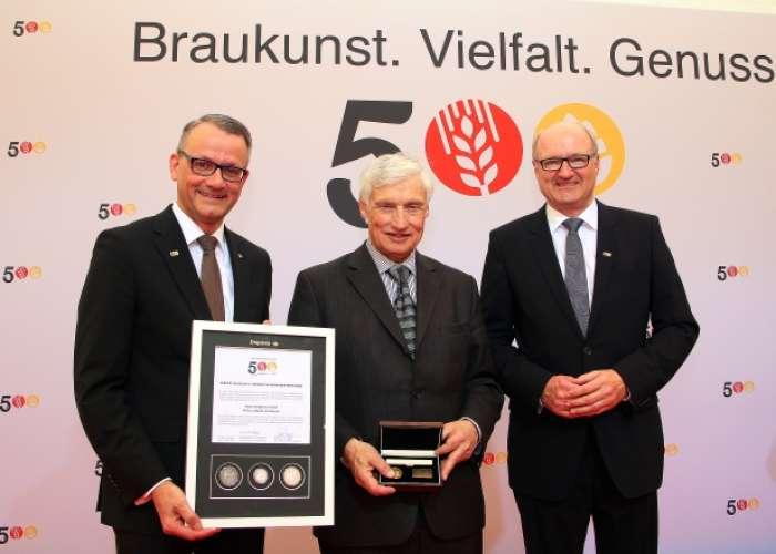 Degussa Goldhandel 500 Jahre Reinheitsgebot Prinz Luitpold von Bayern
