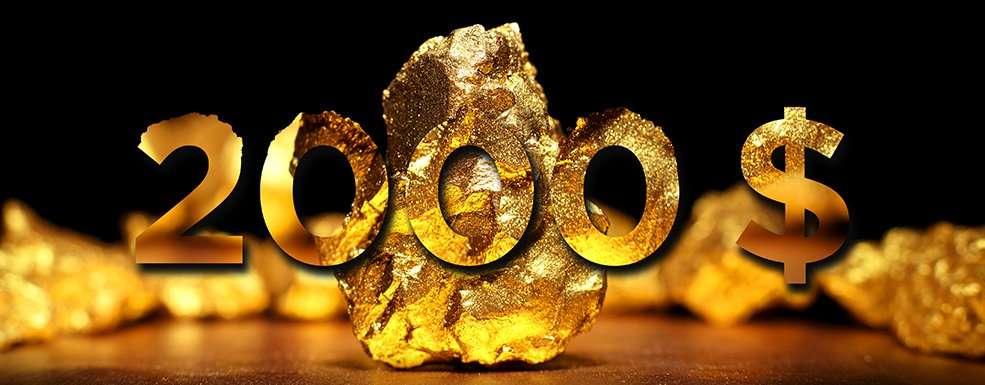 Goldstück 2000 Dollar pro Feinunze